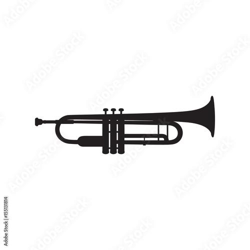 Trumpet icon on white background Fototapeta