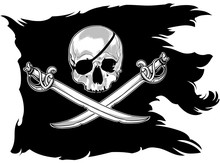 Pirate Flag With A Skull