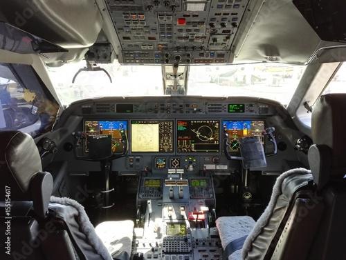 Fotografie, Tablou Cockpit Flugzeug