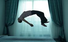 Sleep Paralysis Concept. Young...