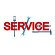 Service sign with tool