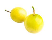 Fresh Passion Fruit On White B...