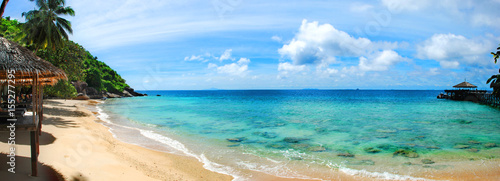 Panoramic of tropical Malaysian beach