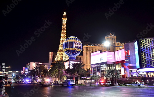 Las Vegas police investigate following a traffic accident