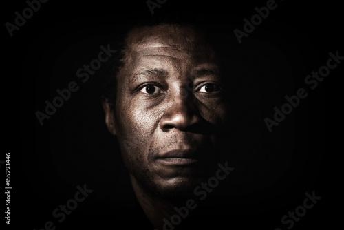 Cuadros en Lienzo Handsome african black man studio portrait.