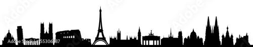 Obraz Skyline Europa - fototapety do salonu