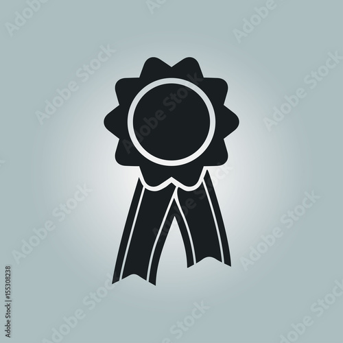 Carta da parati Badge with ribbons icon. Award rosette with ribbon simbol.