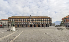 Naples Royal Palace In Plebiscito Square