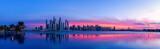 Fototapeta Miasto - Stadtpanorama von Dubai bei Sonnenaufgang