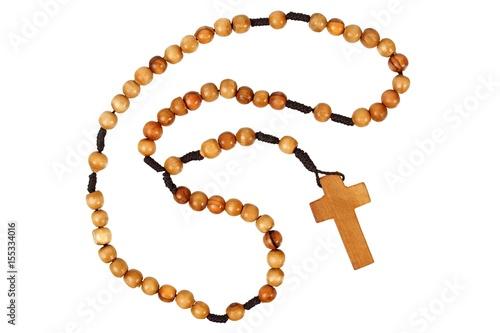 Wooden rosary Fototapeta