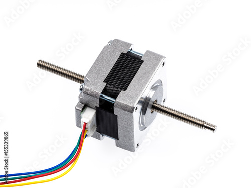 Photo A linear stepper motor (actuator) creates translational motion with the simple o