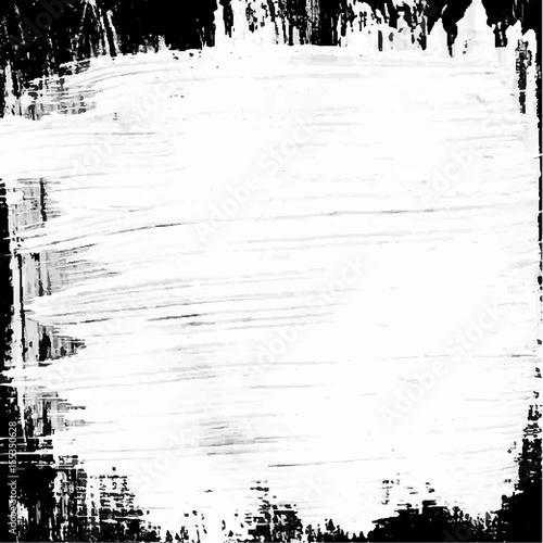 White black painted vector background Canvas Print