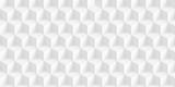 Volume realistic texture, gray cubes, 3d geometric pattern, design vector light background
