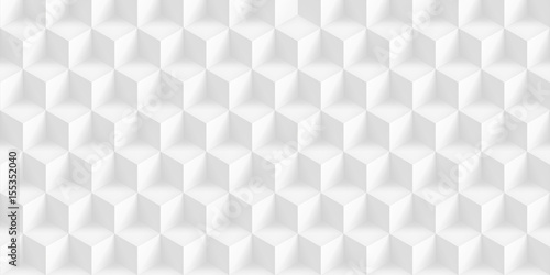 Volume realistic texture, gray cubes, 3d geometric pattern, design vector light background - 155352040