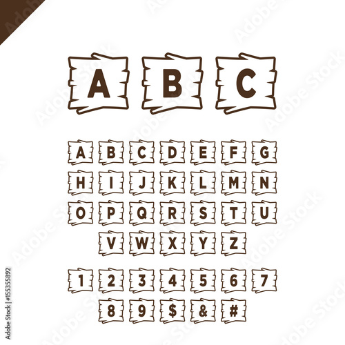 Alphabet Box Letter Font.Wooden Alphabet Blocks With Letters And Numbers In Wood