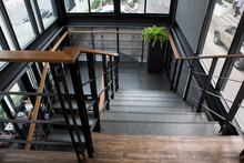 Indoor Concrete Staircase