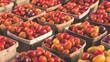 Tomaten in Kisten auf einem Gemüsemarkt