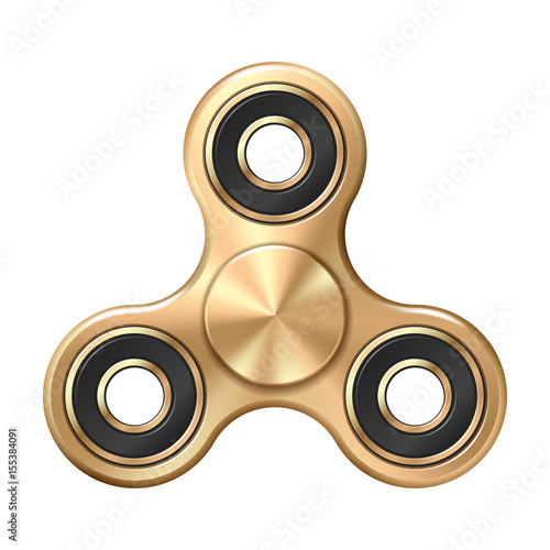 Fotografie, Obraz  Hand fidget spinner toy - stress and anxiety relief.