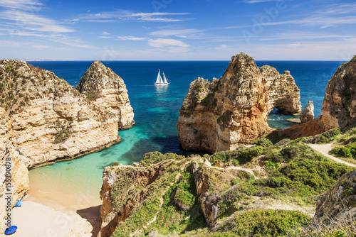 Printed kitchen splashbacks Coast Beautiful bay near Lagos town, Algarve region, Portugal