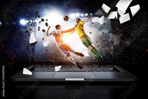 Leinwand Poster Football hottest moments. Mixed media