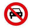 forbidden signal car