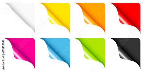 Photo Set Of 8 Web Corners Full Color Rounded