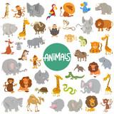 Fototapeta Fototapety na ścianę do pokoju dziecięcego - cartoon animal characters big set