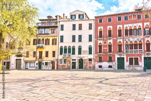 Venice scenic old streets. Italian Lagoon