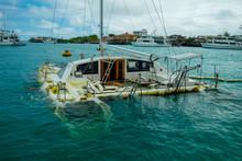 Sunken Sailboat In Galapagos I...