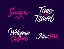 Tourism Concept Lettering Set