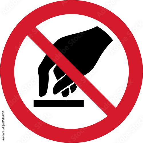 Obraz na plátně ISO 7010 P010 Do not touch
