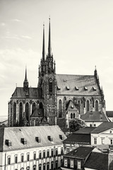 Cathedral of St. Peter and Paul, Brno, Czech republic, colorless