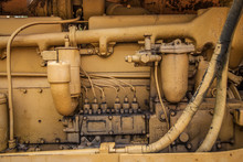 Close-up Of An Old Tractor Engine