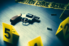 Dramatic Lit Crime Scene With ...