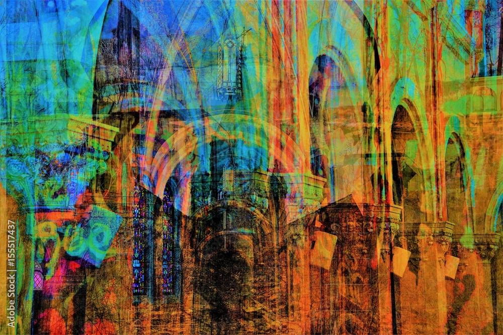 Fototapety, obrazy: Religious Metaphor and Illustrated Abstraction - God, Belief, Christianity, Catholicism, Catholic - Catholic Church Scandals
