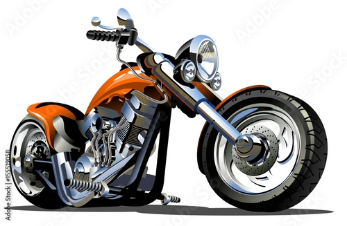 Vector Cartoon Motorbike Canvas Print
