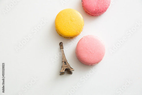 Poster Macarons French macarons with Eiffel Tower