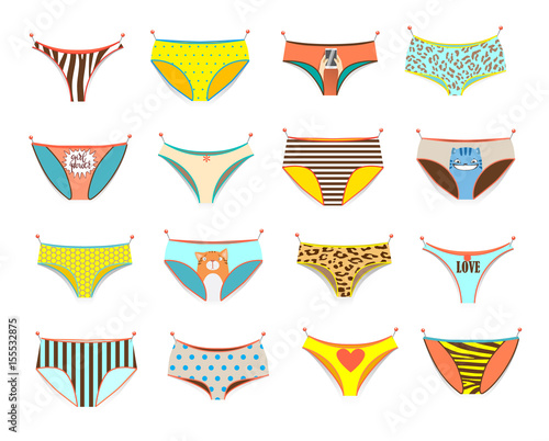 Obraz Funny female panties of different kinds. - fototapety do salonu