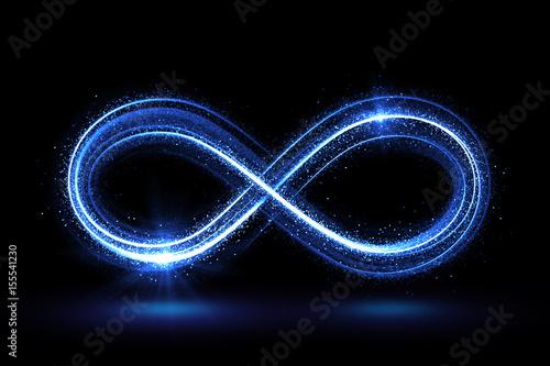 Lighting 3d infinity symbol Canvas Print