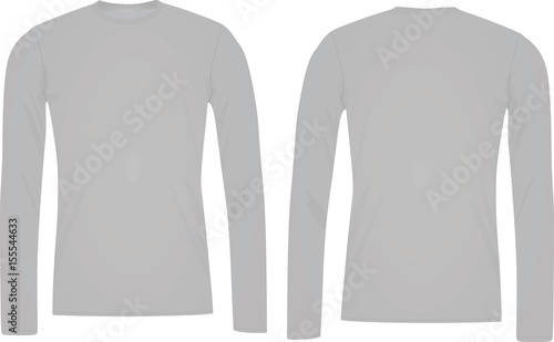 Long Sleeve T Shirt Template Buy This Stock Vector And Explore