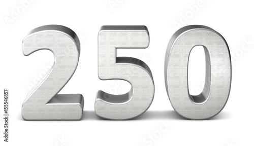 Tela  250 zahl silber 3d number silver struktur