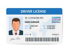 Flat Man Driver License Plasti...