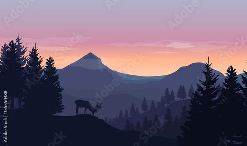 krajobraz-gory-wzgorza-i-drzewa-rogacz-i-niebo