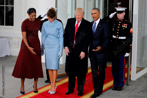 The obamas greet the trumps for tea before the inauguration at the the obamas greet the trumps for tea before the inauguration at the white house in washington m4hsunfo