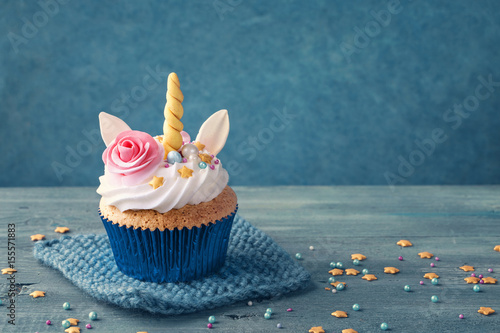 Photo  Unicorn cupcake