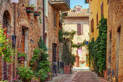 Canvas Prints Tuscany Alley in old town, Tuscany, Italy