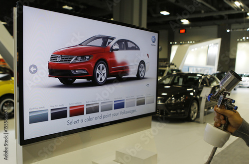 A unique Volkswagen consumer interactive display that allows
