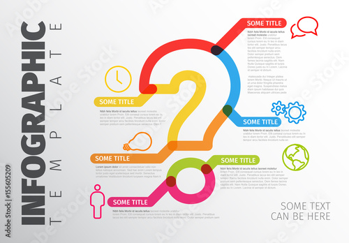 colorful question mark infographic layout buy this stock template