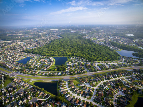 Photo  Aerial view of Kissimmee Florida