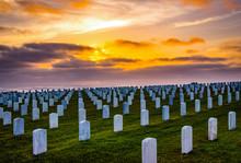 Fort Rosecrans National Veteran Cemetery In Point Loma, California